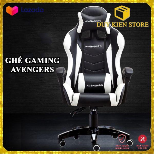 Ghế GAMING AVENGERS - Ghế xoay có massage - Ghế Live stream - Ghế Gaming chân thủy lực cao cấp