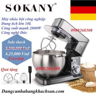 Máy nhào bột công nghiệp 10L 2000W SOKANY-công nghệ sản xuất của Đức-thố 100% inox- Thích hợp dùng sản xuất hoặc gia đình-Bảo hành 1 năm thumbnail