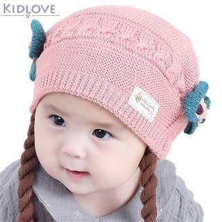 Kidlove Mũ Trẻ Em Bow Dome Mũ Tóc Giả Len Dệt Kim Cho Trẻ Em 3-18M Màu Sắc: Đỏ Trẻ Sơ Sinh Tuổi: 3-18M