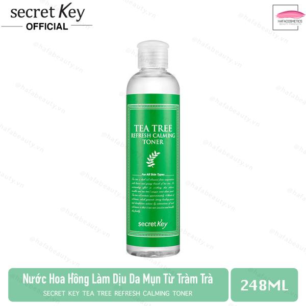 Nước hoa hồng dành cho da mụn, làm dịu mát làn da Secret Key Tea Tree Refresh Calming Toner 248ml giá rẻ