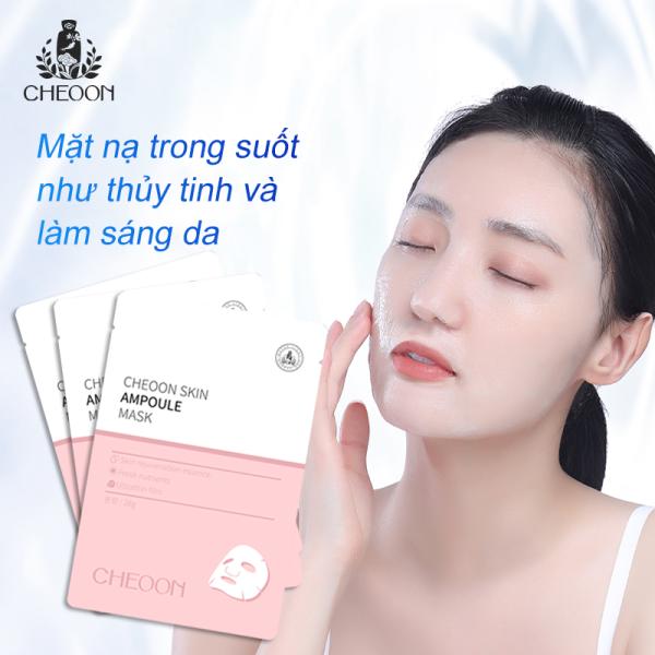 Mặt nạ Hàn quốc trong suốt dưỡng da trắng sáng, dưỡng ẩm min màng, se khít lỗ chân lông, chống lão hóa Cheoon Skin Ampoule Mask