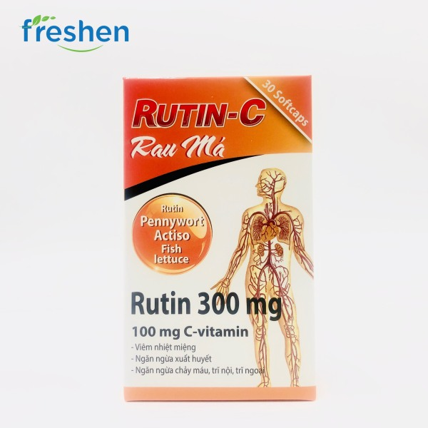 RUTIN - C rau má ( hỗ trợ viêm loét miệng, xuất huyết, chảy máu, trĩ ngoại trĩ nội) nhập khẩu