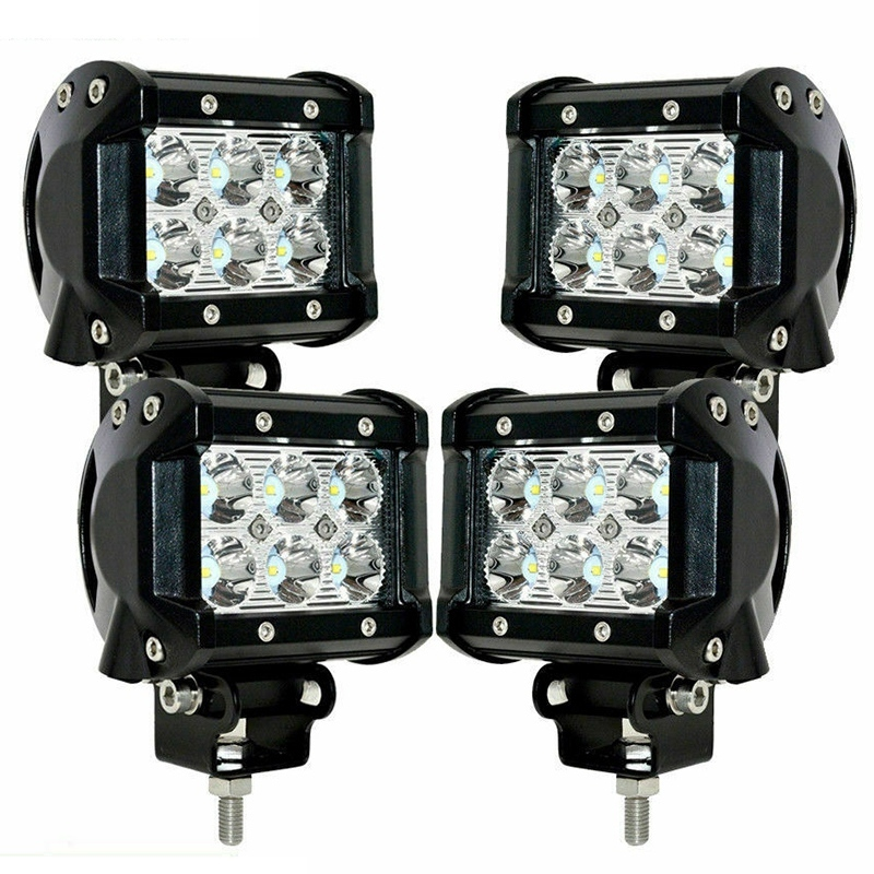 4X 18W LED Work Lights Pods Spot Fog Offroad Lamp for ATV JEEP UTE SUV 4 Inch