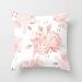 Đệm hương hoa hồng vỏ gối ngắn màu hồng lông đào phong cách bắc âu, vỏ gối sofa hình học trang trí
