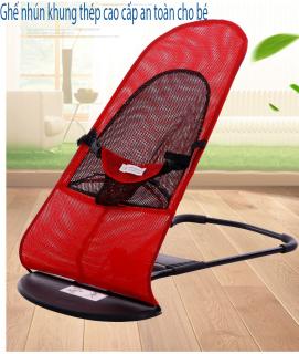 Ghế rung nhún có thanh treo - Tặng kèm đồ chơi cho bé tải trọng 25kg dễ dàng di chuyển đi xa có đai an toàn 3 điểm, Ghế rung, Ghế nằm, Ghế nhún khung thép cao cấp an toàn cho bé thumbnail