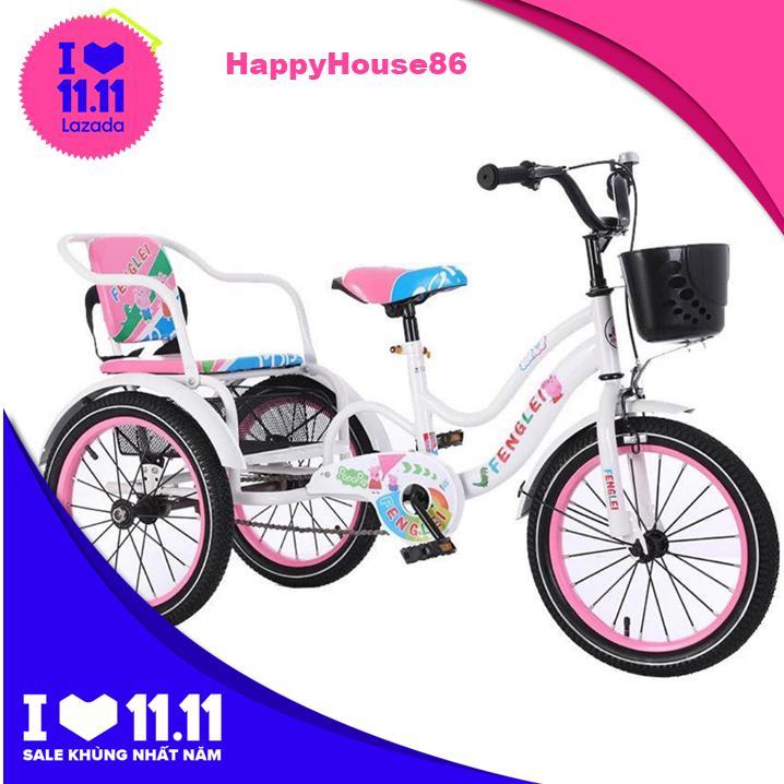 Mua Xe đạp xích lô trẻ em có đai an toàn, khoang đựng đồ