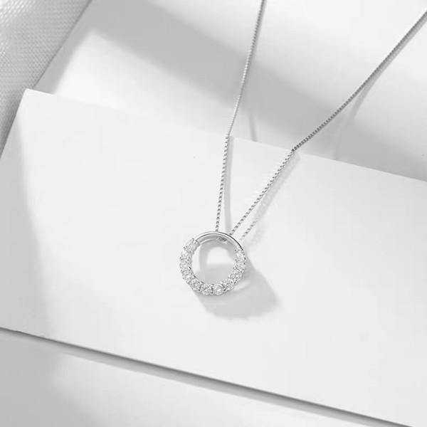 Dây chuyền bạc nguyên chất 925 ENDLESS SPACE - siêu cute bảo hành 1 năm - Trang sức bạc cao cấp Hàn Quốc