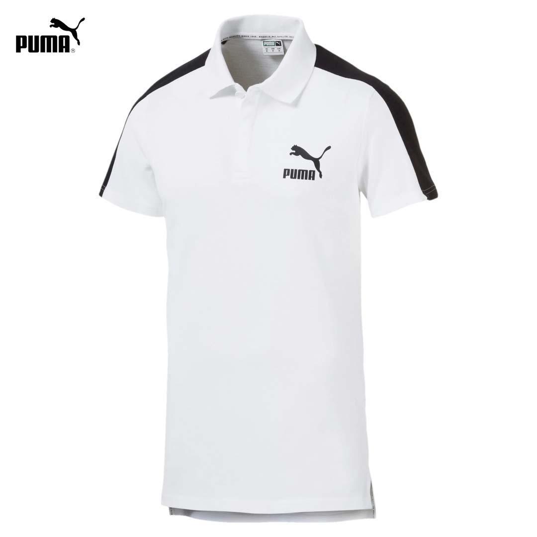 Áo Thun Nam Puma Iconic T7 Men's Polo Shirt Màu Trắng Giảm Cực Khủng