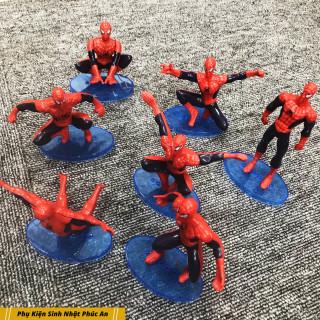 Bộ 7 người nhện nhựa mini trang trí bánh kem thumbnail