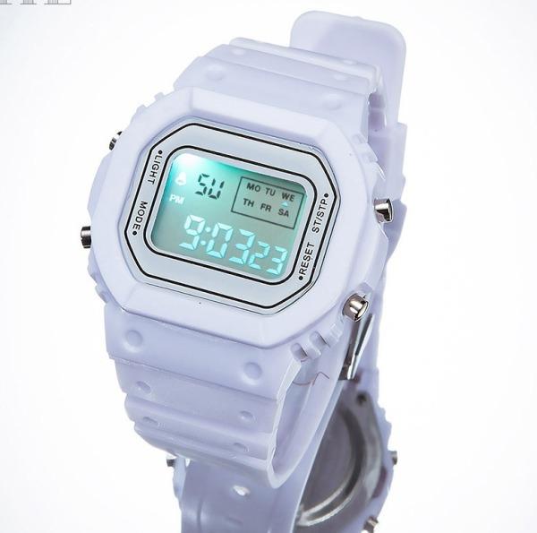 Nơi bán Đồng hồ tuổi teen nữ - đồng hồ thể thao phiên bản Hàn Quốc ulzzang retro -đồng hồ điện tử SPORT T0025 mặt vuông dây silicon chống thấm nước hiển thị đầy đủ chắc năng lịch tuần ngày tháng đen led sáng xem giờ ban đêm