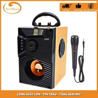 Loa Công Suất Lớn, Loa A300 Hozito Cao Cấp, Loa A18 + TẶNG MIC HÁT, Loa T3, Loa Hat Karaoke Bluetooth Cầm Tay -Kèm Bóp xốp thumbnail