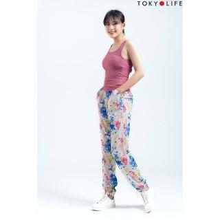 Quần lanh nữ TOKYOLIFE dài chun gấu E2 C929-004C thumbnail