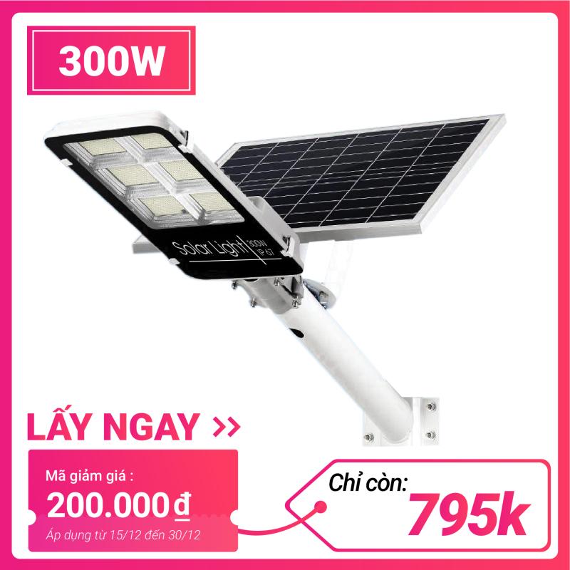 Đèn năng lượng mặt trời đường phố công suất 300W Den nang luong mat troi duong pho cong suat 300 W Đèn bàn chải năng lượng mặt trời