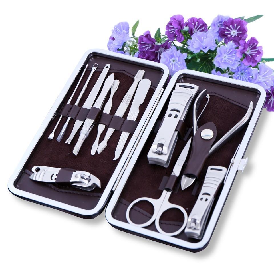 Bộ dụng cụ làm móng 12 món đa năng / Kềm cắt móng russia 12 mónTmark cao cấp
