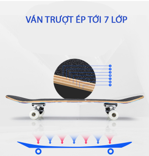 [ SIÊU SALE CỰC HOT ] Ván Trượt Skateboard Cao Cấp , Ván Trượt Mặt Nhám Bánh Cao Su Cỡ Lớn (Đạt Chuẩn Thi Đấu) , Ván Trượt Thể Thao Gỗ Phong Ép 8 Lớp Mặt Nhám SALE 50% thumbnail