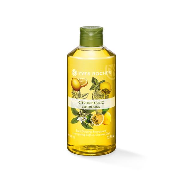 Gel tắm Yves Rocher Lemon Basil Energizing Bath And Shower Gel 400ML giá rẻ