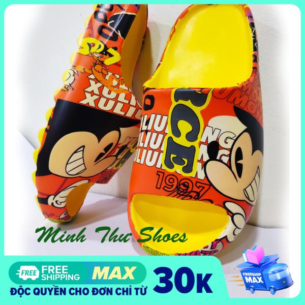 [ FREESHIP MAX ] Dép Đúc YZ Slide M.K HOT 2021   Dép Nữ Quay Ngang Đế Cao   Minh Thư Shoes