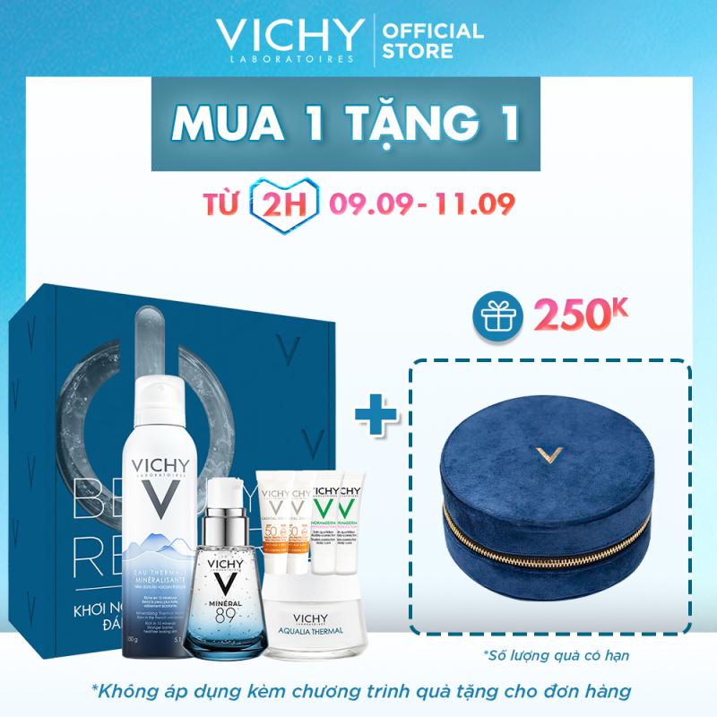 Bộ sản phẩm VICHY Beauty Recharge Box giúp phục hồi, tái tạo và bảo vệ da tối ưu giá rẻ