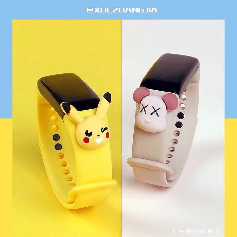 Đồng hồ LED Unisex dây silicon nhiều mắc sắc, hoạt hình cá tính, HOT TREND