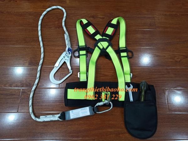 SIÊU KHUYẾN MÃI - Dây an toàn bán thân 1 móc sắt dây thừng giảm sóc Hàn Quốc- DATBT-GS-HQ1MT(T)