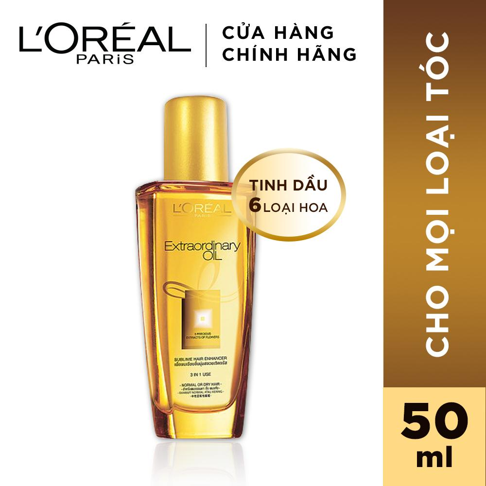 Dầu dưỡng chiết xuất tinh dầu hoa tự nhiên LOreal Paris Elseve Extraordinary Oil Ultra Nourishing 50ml chính hãng