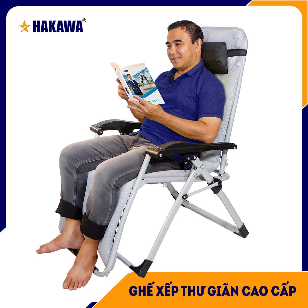 Giá Quá Tốt Để Có [BẢO HÀNH CHÍNH HÃNG 25 NĂM] Ghế Xếp Thư Giãn Cao Cấp HAKAWA HK-G20T - Trọng Tải 300kg