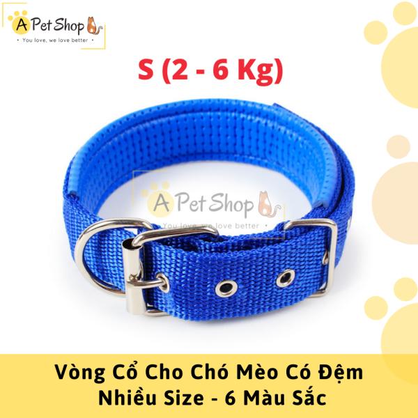 Vòng Cổ Có Đệm Cho Chó Mèo ( Nhiều Màu+Size ) - A Pet Shop