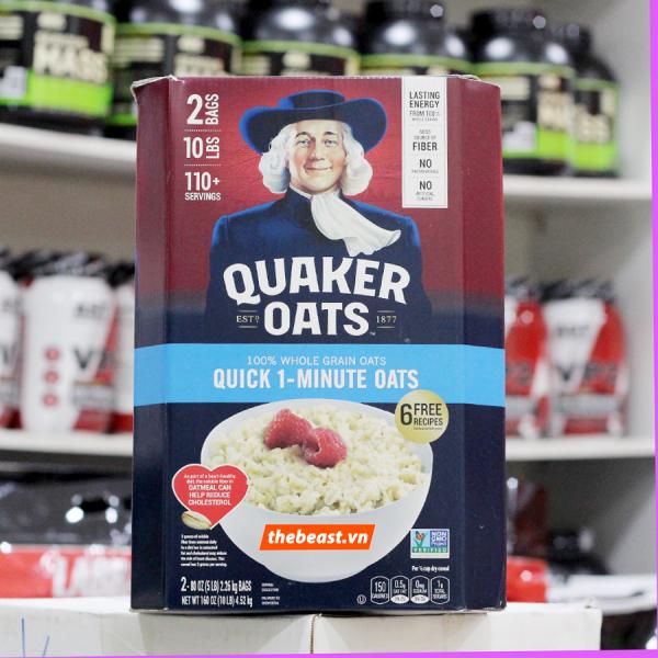 Yến Mạch Quaker Oats Quick 1 Minutie Cán Vỡ 4.52KG