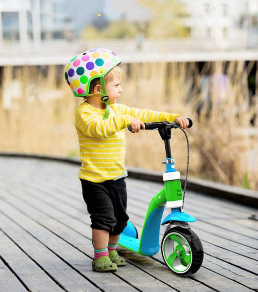 Phân phối Xe Trượt Scooter - Xe Scooter Trẻ Em Cao Cấp 2in1 - Xe Trượt 3 Bánh Gấp Gọn Có Phanh Tay An Toàn