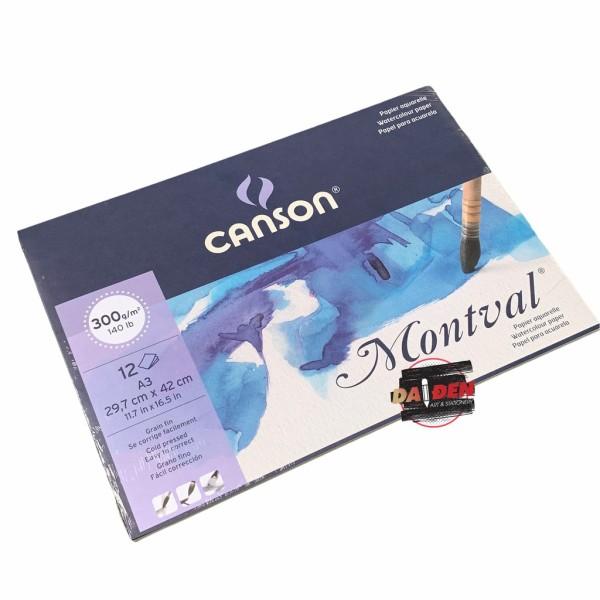 Giấy Màu Nước Canson Montval 300gsm 12 tờ