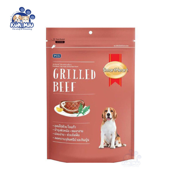 Bánh thưởng cho chó Smartheart Grilled Beef 100g