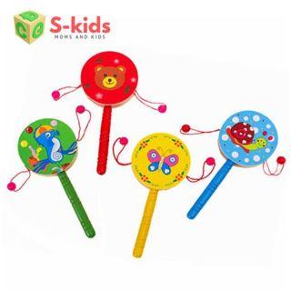 Đồ chơi gỗ Trống lắc nhỏ, Đồ chơi cho bé 1 tuổi đáng yêu, vui nhộn - M020 - Đồ chơi gỗ S-Kids thumbnail