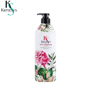Dầu xả KeraSys Siêu mềm mượt 600ml, Giúp Bảo Vệ Tóc Ngăn Ngừa Hư Tổn Hiệu Quả [Pure & Charming] Kerasys KS hair conditioner [Pure & Charming] hair reappeals soft and smooth replenish energy protein loss of hair