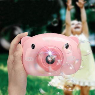 Máy ảnh thổi bong bóng xà phòng quà tặng dễ thương cho bé - may anh thoi bong bong, máy thổi bong bóng heo hồng, (Quà 1 6 cho bé yêu) thumbnail