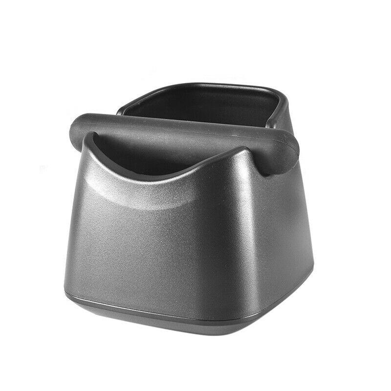 Coffee Knock Box Espresso Grinds Waste Tamper Bin Container Holder Black