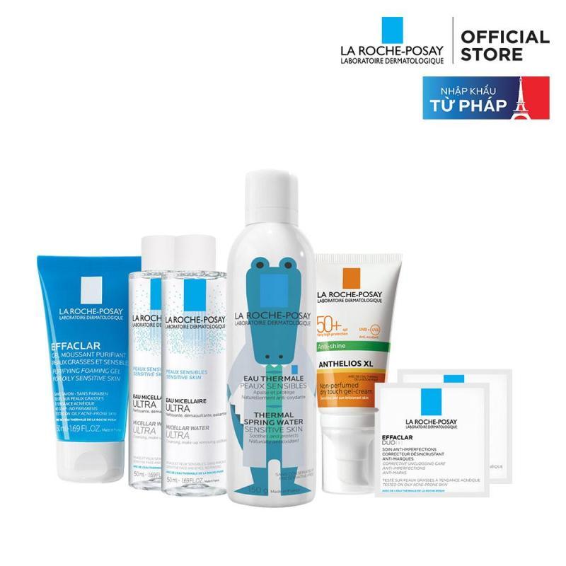 Bộ sản phẩm bảo vệ và chăm sóc toàn diện cho da dầu mụn La Roche Posay