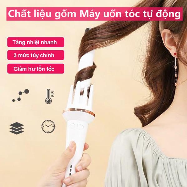 Chất liệu gốm Máy uốn tóc tự động 28mm - Di động và chất lượng cao, Tóc xoăn không làm hại tóc bạn-Máy Uốn Tóc Tự Động 360, uốn tóc tự động bảo vệ tóc