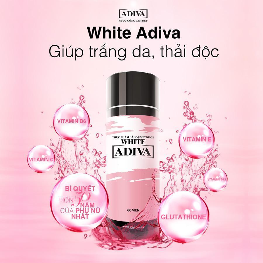 White Adiva viên nang ( 60 viên /hộp) Dưỡng chất uống làm đẹp