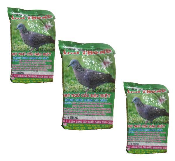 Combo 3 Gói Hạt Ngũ Cốc Chim Cu Gáy Anh Thông 300g - Thức Ăn Chim