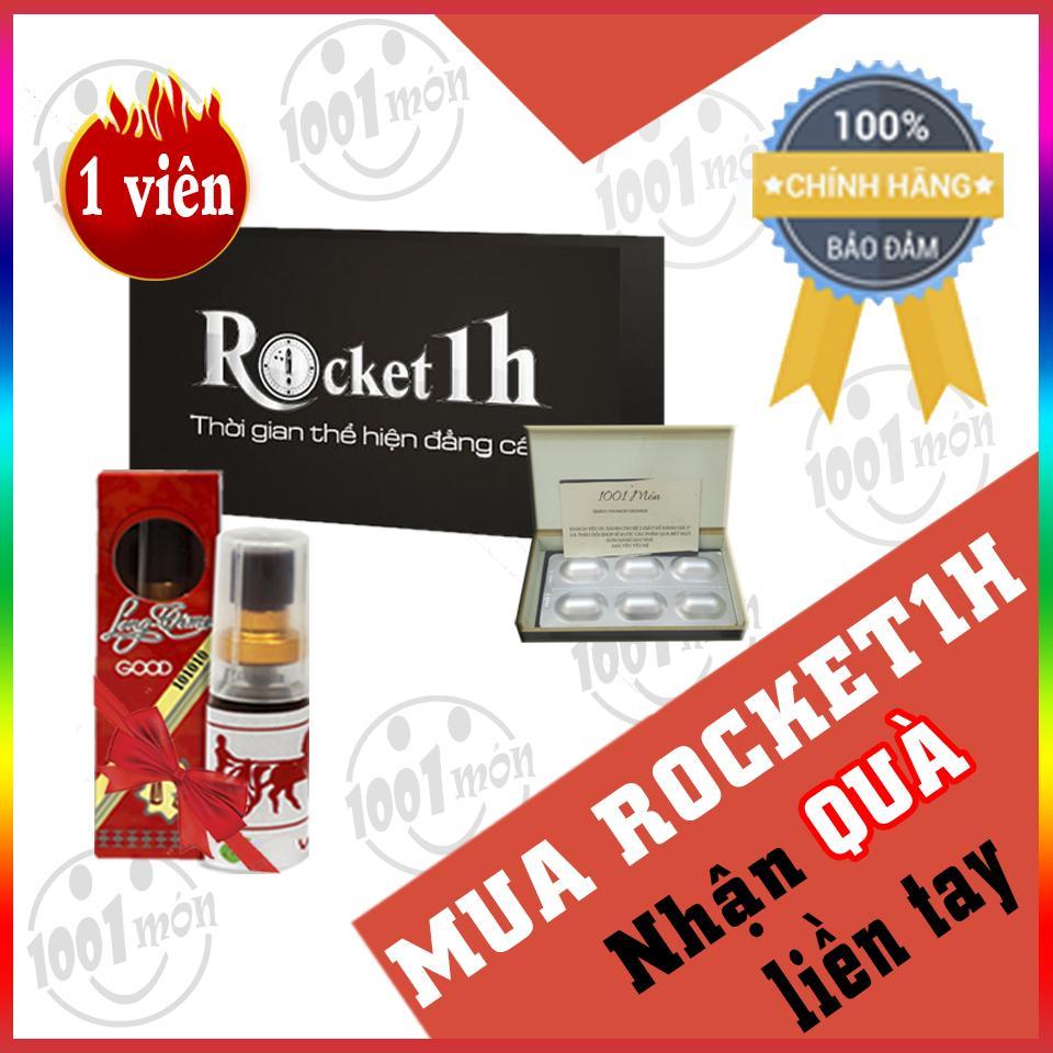 Mua 1 viên rocket 1h hỗ trợ tình dục nam + tặng 1 Lọ tinh chất kéo dài Longtime đỏ - 1001 món