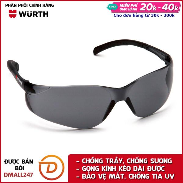 Kính bảo hộ mắt chống bụi và chống tia UV Wurth WU-KBH-XAM - Dmall247, chăm sóc xe chuyên dụng