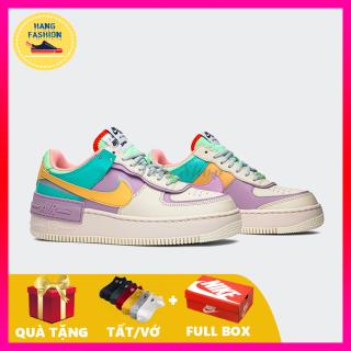 (Tặng tất - Full hộp) Giày thể thao Sneaker nữ Nikee Shadow 7 màu Hot Trend 2021 hàng cao cấp hàng VNXK chất liệu da thật mang êm chân, cực đẹp, cực phong cách, giày nữ tăng chiều cao 3 cm thumbnail