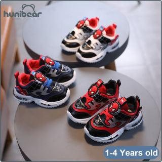 Children Của Bé Trai Giày, Giày Thể Thao Người Nhện Bằng Da Giày Thể Thao Chống Trượt Toddler Velcro Giày 1-4 Năm