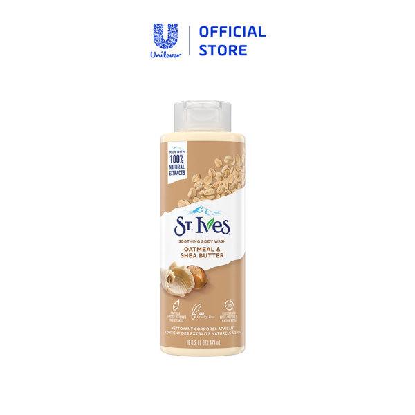 Sữa tắm dưỡng da St.Ives Trái Mơ/ Yến Mạch và Bơ/ Muối Biển/ Cam Chanh 473ml