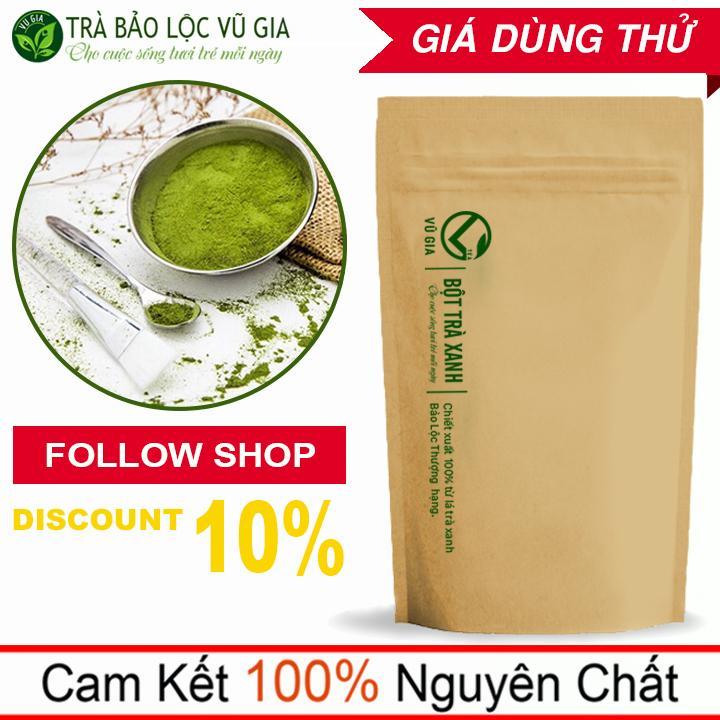 Bột Trà Xanh  Nguyên Chất VG Farm 50g( dạng túi) - Đắp mặt tắm trắng, tẩy Sạch Tế Bào Chết_[ Đã được kiểm nghiệm y tế ] cao cấp