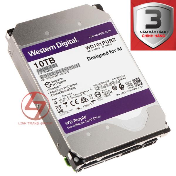 Bảng giá Ổ cứng 3.5 inch SATA Western Digital WD Purple 10TB 8TB 6TB 4TB - bảo hành 3 năm - SD50 SD51 SD52 SD53 Phong Vũ