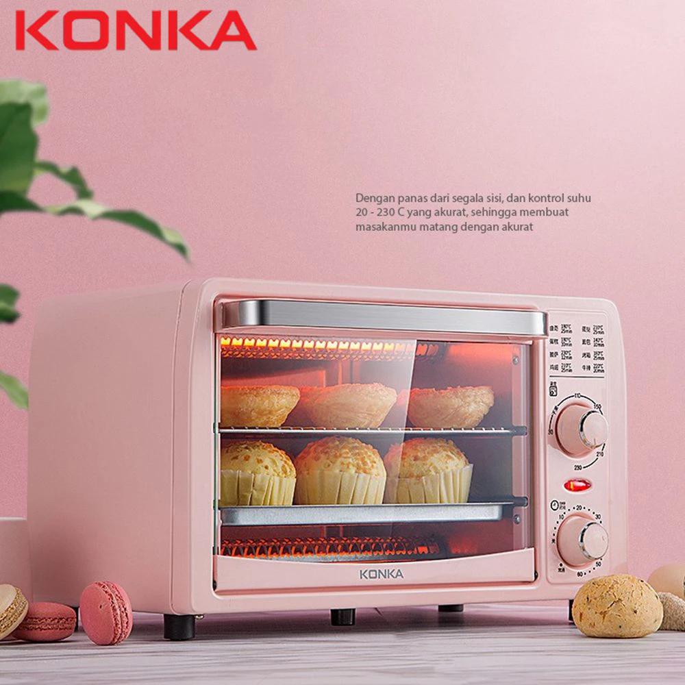 KONKA bếp nướng điện Lò nướng điện 13L Lò nướng mini đa chức năng Máy nướng chảo Máy làm bánh pizza gia đình Máy làm bánh pizza trái cây Lò nướng bánh mì