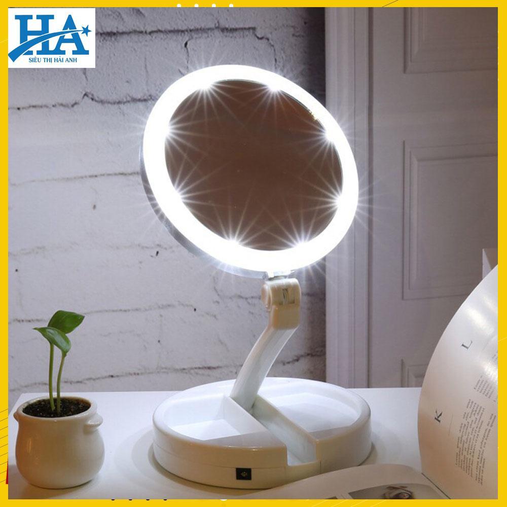 [ẢNH THẬT- CÓ VIDEO TỰ QUAY] Gương trang điểm để bàn gấp gọn có đèn Led,gương trang điểm 2 mặt, gương trang điểm gấp gọn, gương trang điểm để bàn GDBEO09 nhập khẩu