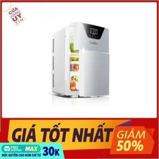 [GIÁ TỐT] Tủ lạnh 20L- Tủ lạnh mini- Tủ lạnh 20L hiển thị nhiệt độ, 2 ngăn- Tủ lạnh 2 ngăn- 2 chiều nóng lạnh, nguồn vào 12v 220v- Tủ lạnh mini cho xe hơi và gia đình thumbnail