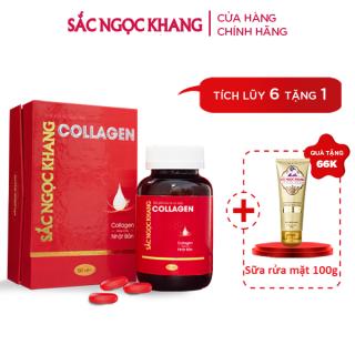 Viên Uống Collagen Sắc Ngọc Khang 60 viên giúp tăng đàn hồi cho da, hạn chế lão hóa da, giảm nết nhăn,giúp da sáng mịn . thumbnail